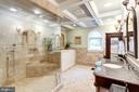 Custom master bathroom - 7395 BEECHWOOD DR, SPRINGFIELD