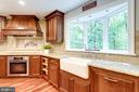 Subzero fridge, cherry cabinets, granite tops - 7395 BEECHWOOD DR, SPRINGFIELD