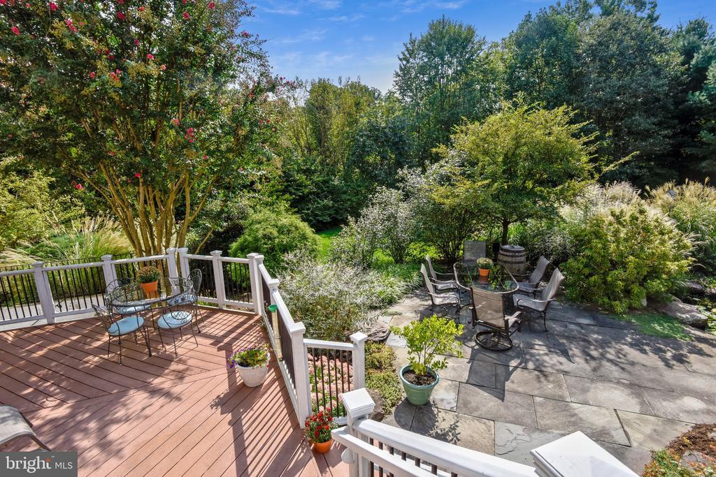 Deck overlooks Gorgeous Backyard - 1221 ADMIRAL ZUMWALT LN, HERNDON