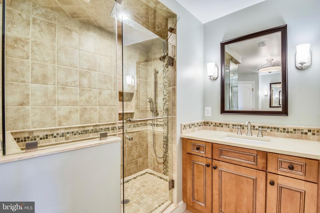 Master Bath - Glassed in Shower, Granite Counters - 1221 ADMIRAL ZUMWALT LN, HERNDON