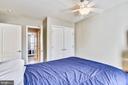 Bedroom  #2, Walk in Closet, Ceiling Fan, Carpet - 1221 ADMIRAL ZUMWALT LN, HERNDON