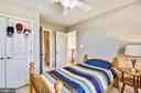 Bedroom #3, Walk in Closet, Ceiling Fan, Carpet - 1221 ADMIRAL ZUMWALT LN, HERNDON
