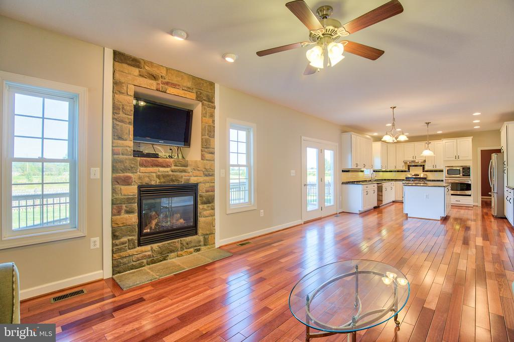 Gas Fireplace in the Family Room - 11000 MISTY CREEK CT, NOKESVILLE