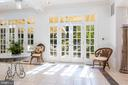 Floor to Ceiling French Doors in Conservatory - 2848 MCGILL TER NW, WASHINGTON
