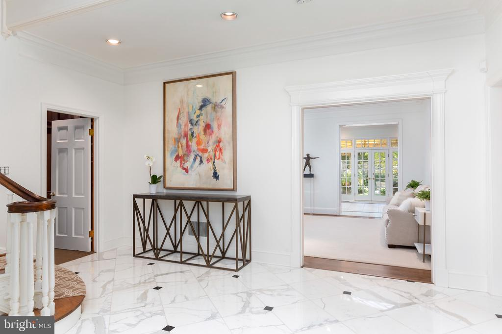 Marble Entry with Recessed Lighting - 2848 MCGILL TER NW, WASHINGTON