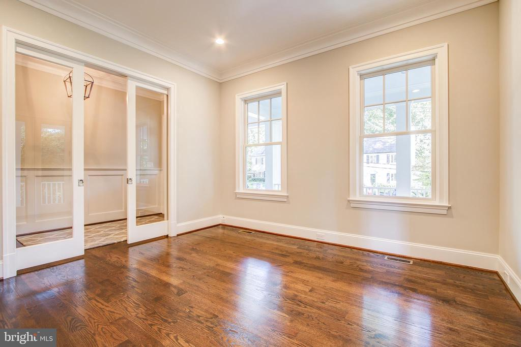 1st floor den w glass pocket doors - 3206 ROLLING RD, CHEVY CHASE