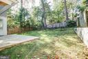Nice backyard - 3206 ROLLING RD, CHEVY CHASE