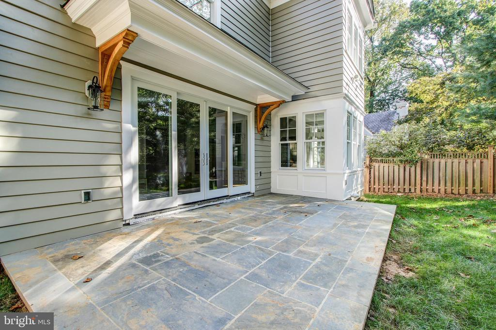 Slate patio  perfect for entertaining - 3206 ROLLING RD, CHEVY CHASE