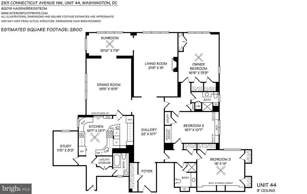 Floor plan - 2101 CONNECTICUT AVE NW #44, WASHINGTON