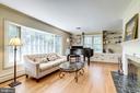 Living Rm w/ Bay Window, Built-in Bookshelves & FP - 3800 DENSMORE CT, ALEXANDRIA