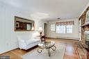 Family Room off Kitchen with Fireplace - 3800 DENSMORE CT, ALEXANDRIA