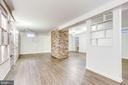 Recreation room in finished, walk-up bsmt - 3800 DENSMORE CT, ALEXANDRIA