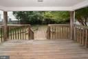COVERED DECK LEADING TO BACK YARD - 2714 FRANKLIN RD, ARLINGTON
