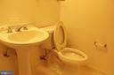 Main Level Half~Bath - 46859 WOODSTONE TER, STERLING