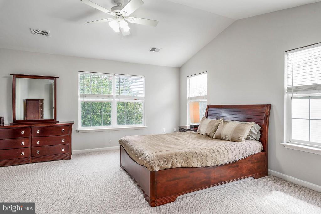 Large Master bedroom w/ walk ins. - 20776 BRIDALVEIL FALLS TER, STERLING