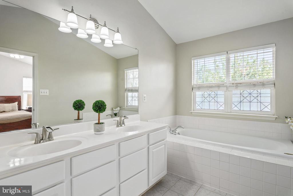 Master bathroom w/ shower and tub! - 20776 BRIDALVEIL FALLS TER, STERLING