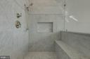 Marble Master Bath Shower - 1471 NIEMAN RD, SHADY SIDE