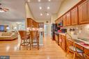 Kitchen has lots of counter space - 114 BUTLER CIR, LOCUST GROVE