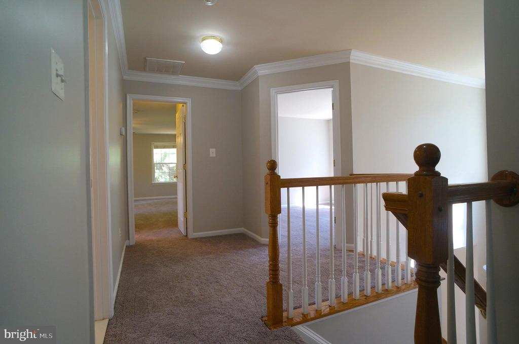 Upper Level Hallway with 2-Piece Crown Molding - 2004 WAVE DR, STAFFORD
