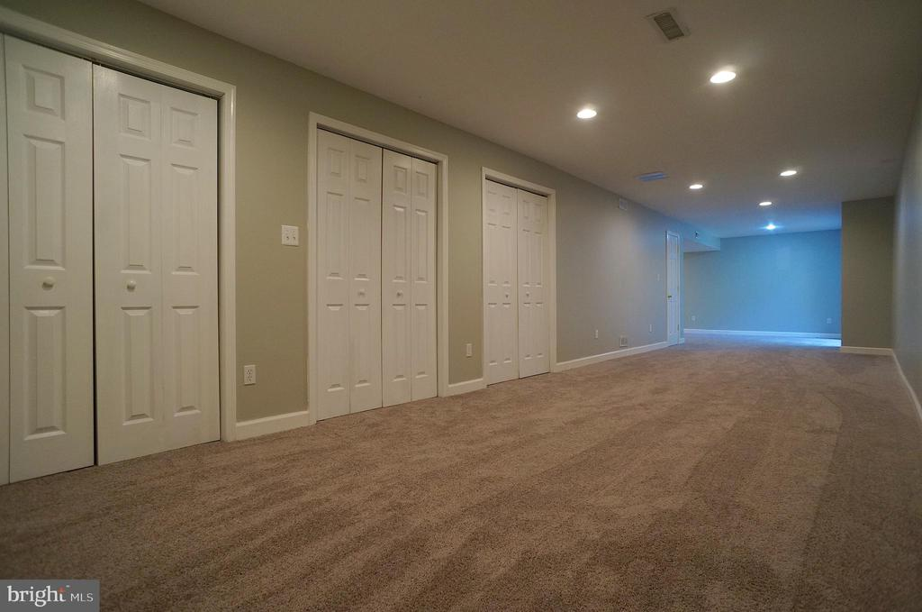 Rec Room has Plenty of Storage with 5 Closets - 2004 WAVE DR, STAFFORD