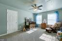 Bedroom 2 with Ceiling Fan - 12 SILVERLEAF CT, STAFFORD