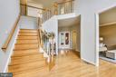 Dual Staircase has a back stair to Kitchen! - 6846 CREEK CREST WAY, SPRINGFIELD