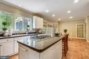 Extra large Island with cooktop and storage! - 6846 CREEK CREST WAY, SPRINGFIELD