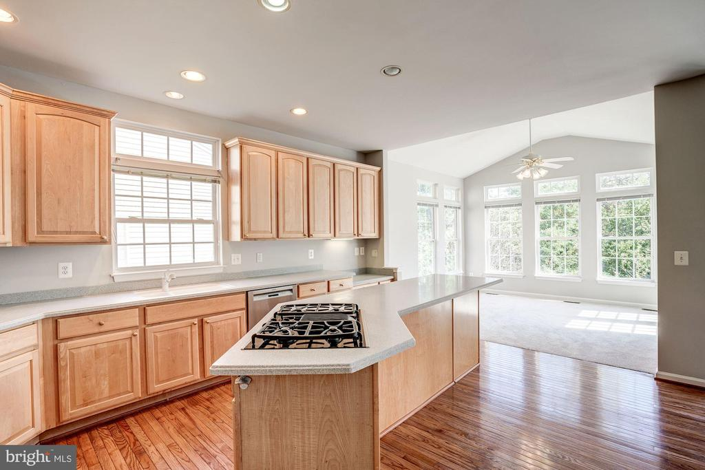 Kitchen opens to large breakfast nook - 5675 CLOUDS MILL DR, ALEXANDRIA