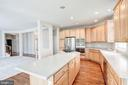 Huge kitchen island - 5675 CLOUDS MILL DR, ALEXANDRIA