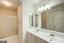 Full bathroom with dual sinks - 5675 CLOUDS MILL DR, ALEXANDRIA