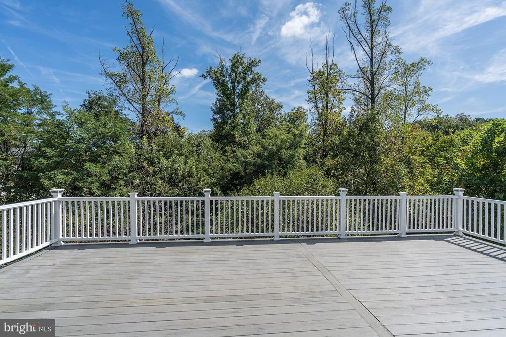 Large deck that backs to trees - 5675 CLOUDS MILL DR, ALEXANDRIA