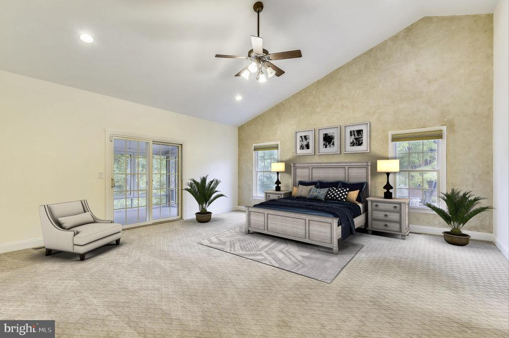 Master Bedroom - Virtually Staged - 7816 POHICK RD, SPRINGFIELD