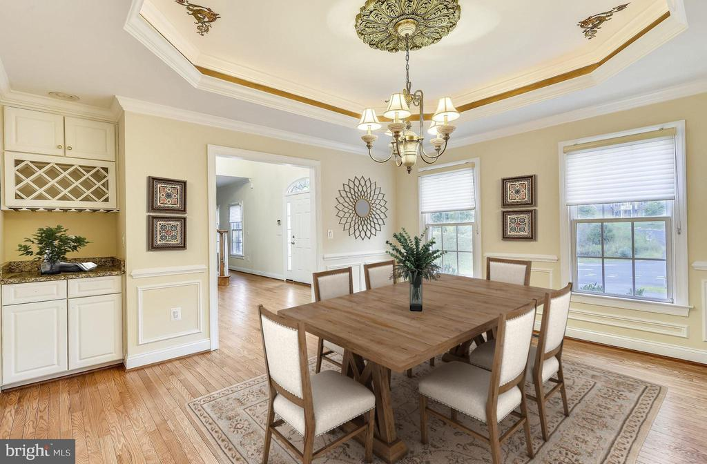 Dining Room - Virtually Staged - 7816 POHICK RD, SPRINGFIELD