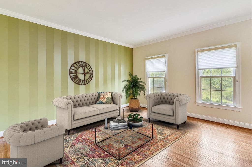 Living Room - Virtually Staged - 7816 POHICK RD, SPRINGFIELD