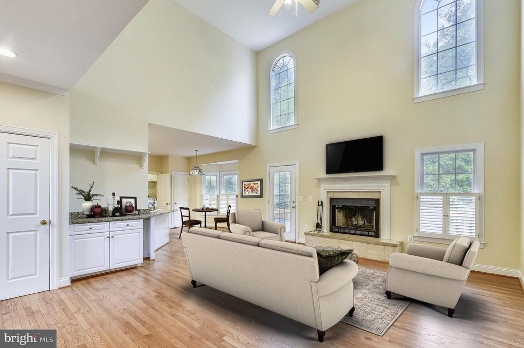 Family Room - Virtually Staged - 7816 POHICK RD, SPRINGFIELD