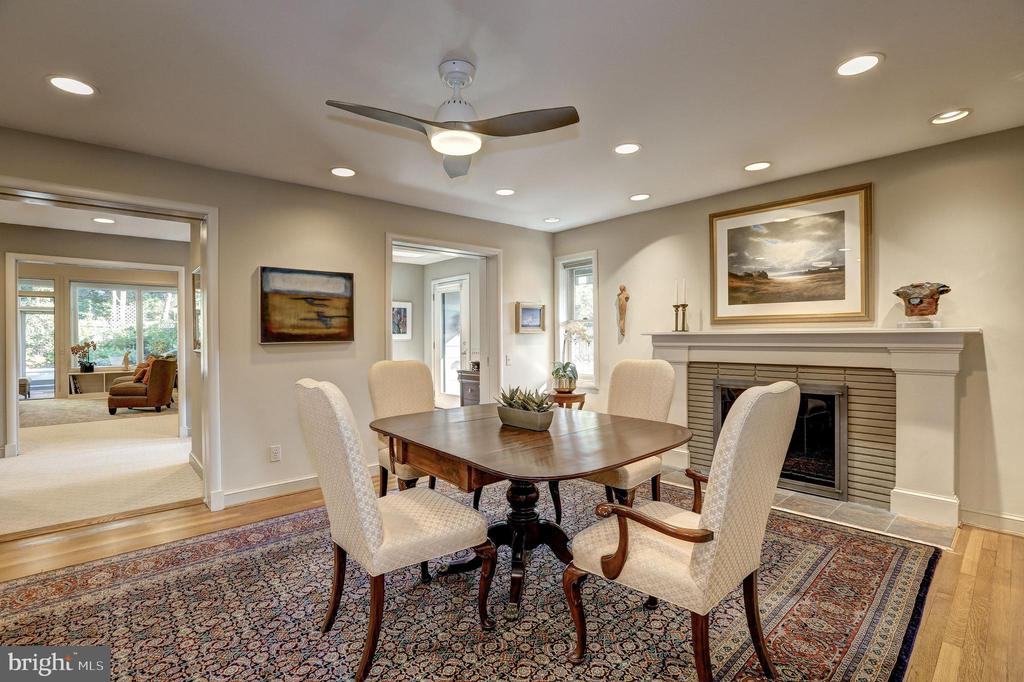 Large Dining Room with fireplace - 5119 BRADLEY BLVD, CHEVY CHASE