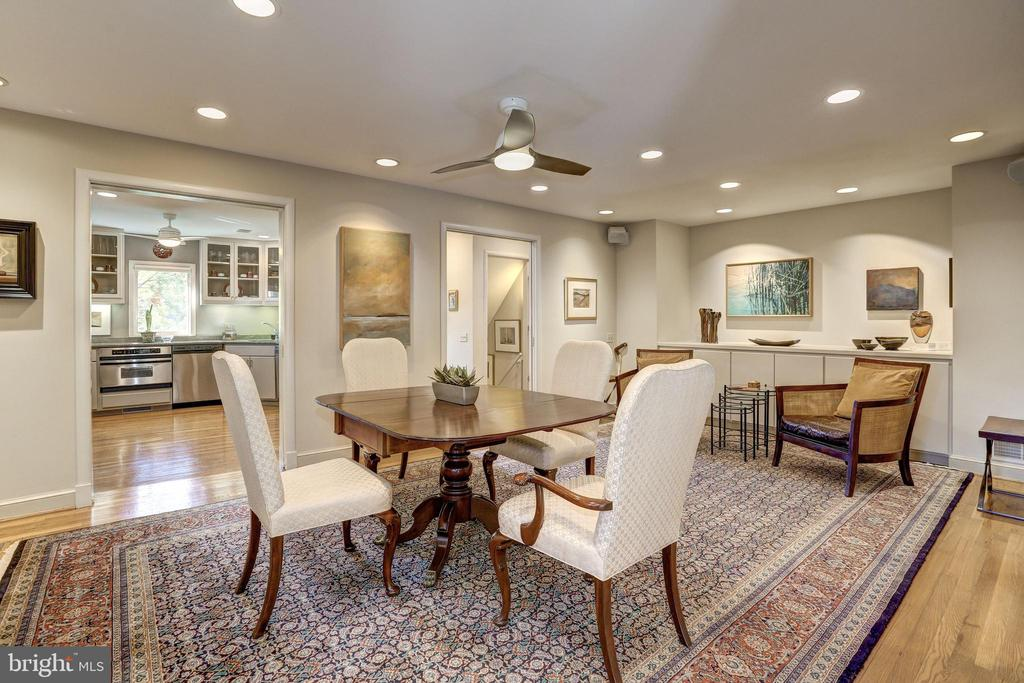 Recessed lighting, fan, and built-ins - 5119 BRADLEY BLVD, CHEVY CHASE