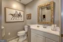 Powder Room is a full bath w/shower - 5119 BRADLEY BLVD, CHEVY CHASE