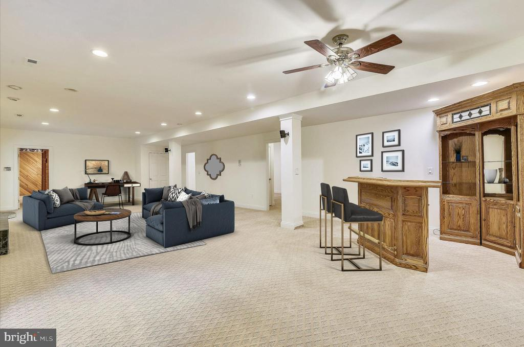 Basement - Virtually Staged - 7816 POHICK RD, SPRINGFIELD