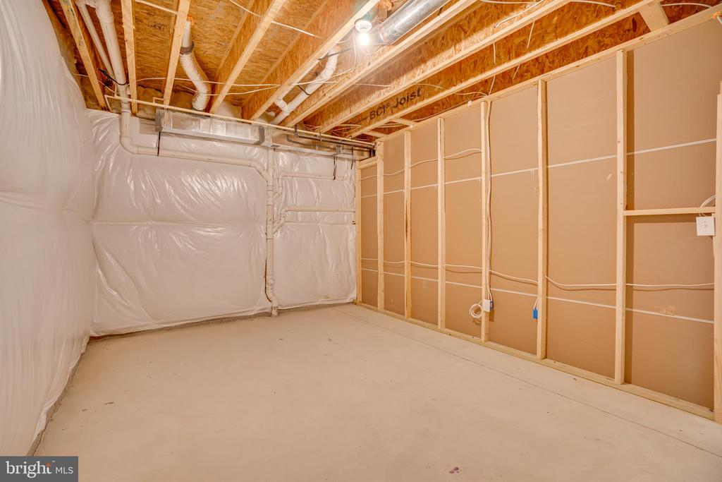 Unfinished Area in Basement - 219 ROCK RAYMOND DR, STAFFORD