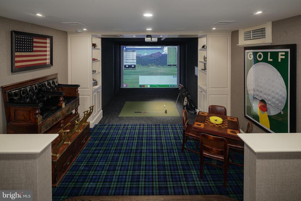 Lower Level Golf Simulation Room - 733 N SPRING MILL RD, VILLANOVA
