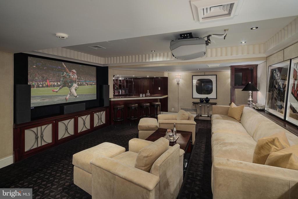 Lower Level Media Room - 733 N SPRING MILL RD, VILLANOVA