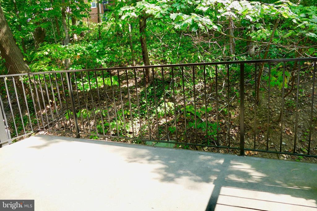 Pleasant wooded exposure off balcony... - 2629 S WALTER REED DR #C, ARLINGTON