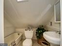 Top level fully finished attic full bath - 210 LAVERNE AVE, ALEXANDRIA