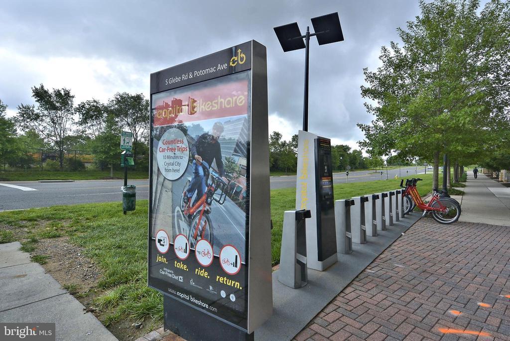 Capital Bike Share on the COrner - 3600 S GLEBE RD #222W, ARLINGTON