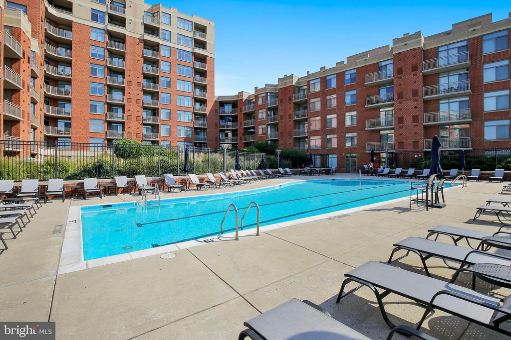 Sunny Pool for laps or fun! - 3600 S GLEBE RD #222W, ARLINGTON