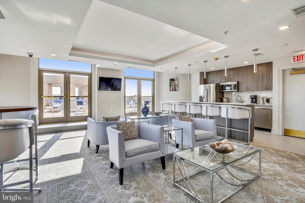 Kitchen/Bar and Door to Rooftop Terrace! - 3600 S GLEBE RD #222W, ARLINGTON