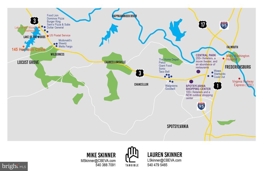 Map of the surrounding area - 145 HARRISON CIR, LOCUST GROVE