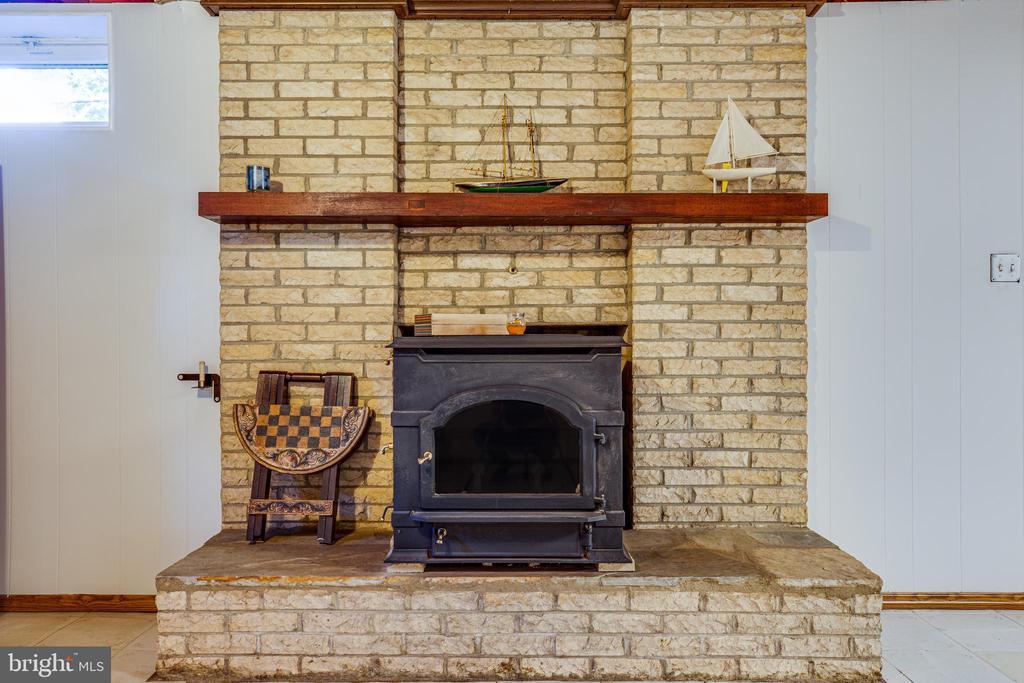 Wood stove in lower level rec room - 1106 LITTLEPAGE ST, FREDERICKSBURG