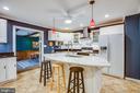 Kitchen w/ adjoining formal dining room - 1106 LITTLEPAGE ST, FREDERICKSBURG